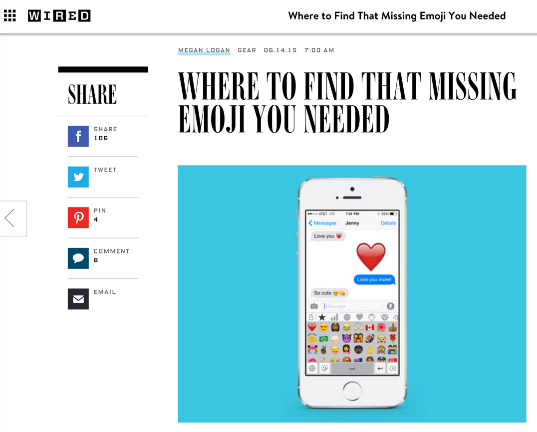 Where to find that missing Emoji you needed